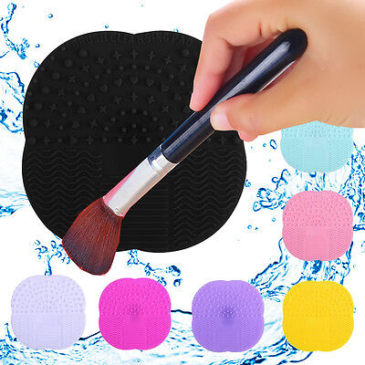 Makeup Brush Cleaner Pad Silicone Washing Mat Hand Tool