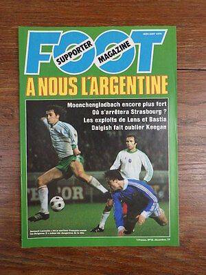 Football Revue FOOT SUPPORTER MAGAZINE No 18 (1977) COMPLET AVEC POSTER rare