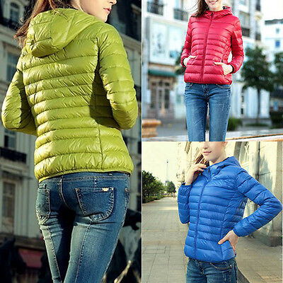 Women's Winter Slim Hooded Coat Zipper Trench Jacket Parka Outwear Overcoat S-XL