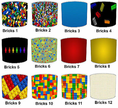 Lampshades Ideal To Match Children`s Building Blocks Wall Hangings & Wallpaper.