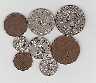 1932 George V Part Set Of 8 Coins In Fine Or Better Condition