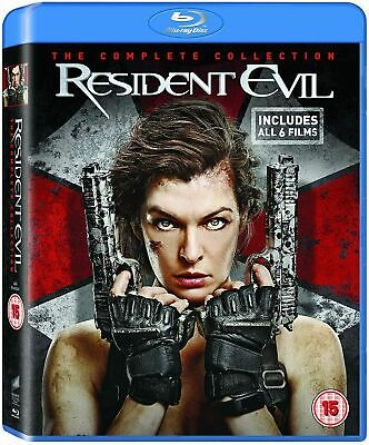 Resident Evil The Complete Collection 1 + 2 + 3 + 4 + 5 + 6 New Reg B Blu-ray
