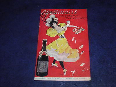 Tuck Celebrated Poster Advertising Postcard - Apollinaris, Queen Of Table Waters