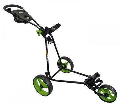 Bullet Black Lime 5000 Deluxe Wheeled Folding Golf Trolley Roller Cart XBU420307