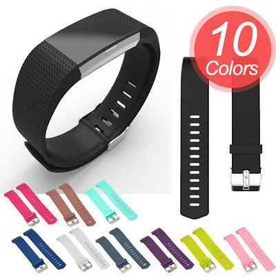 2 Size Soft Silicone Replacement Spare Band Strap for Fitbit Charge 2