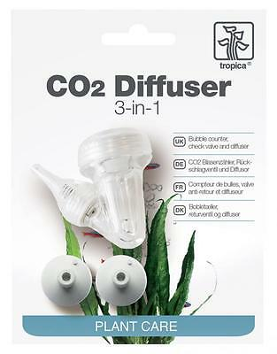 Tropica 3 in 1 CO2 Diffuser, Bubble Counter & Check Valve for Planted Fish Tanks