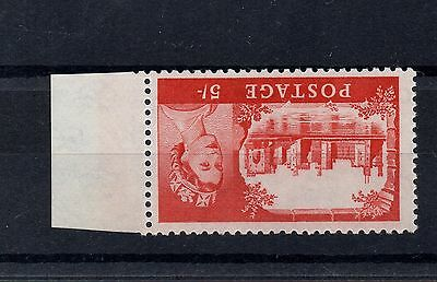 GB 1959 QE2 5s Castle BRADBURY INVERTED WATERMARK Defin Stamp SG596awi  Re:X529w