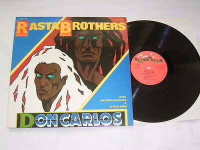 LP - Don Carlos & Anthony Johnson - Rasta Brothers - France 1985 # cleaned