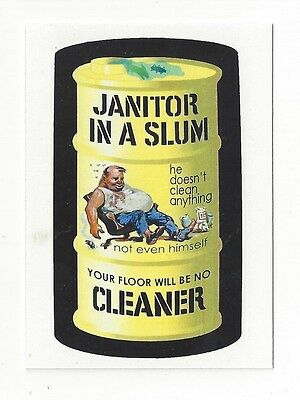 2006 Lost Wacky Packages 1st Series JANITOR IN A SLUM Test Card yellow w/Judlow