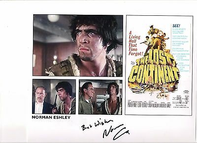 "Norman Eshley signed autograph on a 10x8""  The Lost Continent photo !"
