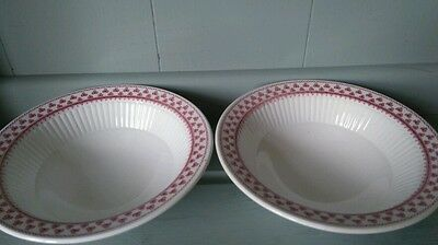 """2  Adams Ironstone """"Victoria """" Pattern Cereal/fruit Bowls."""