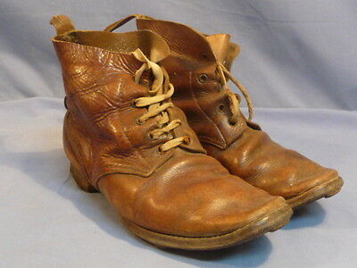 Original WWII Japanese Soldier's Leather Ankle Boots