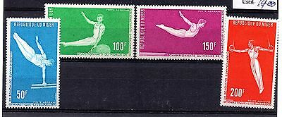 Niger (1357) 1970 Air World Gymnastic Championship, set Lightly mounted Sg363-6