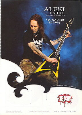 A4 MAGAZINE ADVERT FOR ESP GUITARS FEATURING Alexi Laiho of Children Of Sodom.EX