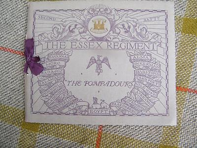 The Essex Regiment The Pompadours Second Battalion pre WW1 1913 book