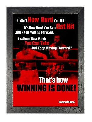 Rocky Balboa 40 Inspirational Motivational Quote Sylvester Stallone Poster Boxer
