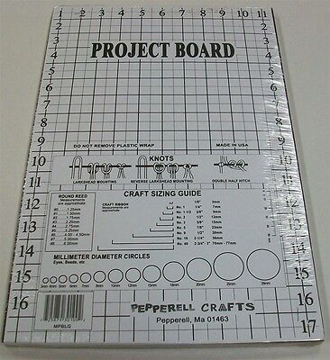 Macrame Yarn Craft Project Work Board with Knot Guide and 10 T-Pins 11 x 17 Inch