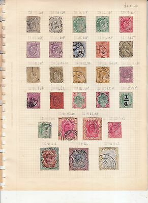 India 1902 Edward 7Th Set Complete To 15 Rupees Used High Cv
