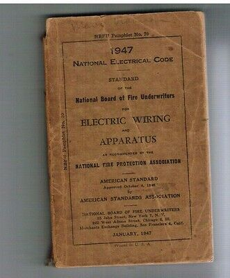 Vintage Rare 1947 National Electrical Code Electric Wiring & Apparatus Book
