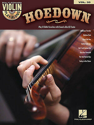 Hoedown Violin Play-Along Vol 33 Fiddle Sheet Music Folk Songs Book CD Pack NEW