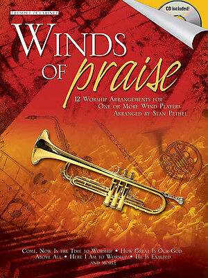 Winds of Praise Trumpet Solo Sheet Music Christian Songs Play-Along Book CD NEW