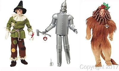 75th Anniversary LION SCARECROW TIN MAN Wizard of Oz WOZ Barbie Dolls