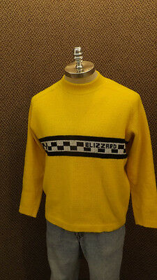VTG Ski-Doo Blizzard Snowmobile Sweater sz Lrg 1970's
