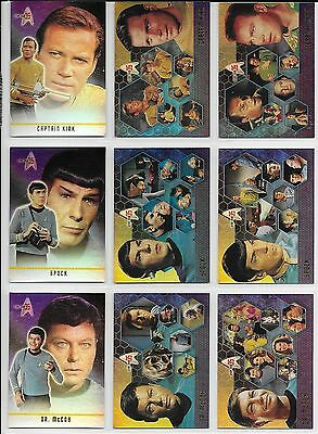 Star Trek 35TH ANNIVERSARY HOLOFEX 72 Card BASE Set + 2 Bonus Wrappers 2001