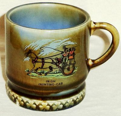 Wade Irish Porcelain Coffee Mug Irish Jaunting Car