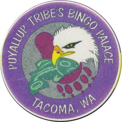 PUYALLUP TRIBES BINGO PALACE 50c Casino Chip Tacoma Washington USA #1