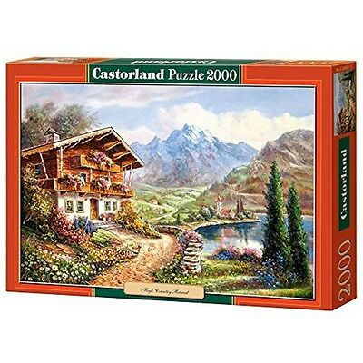 2000 Piece Castorland Jigsaw High Country Retreat - New Puzzle Pieces C200511