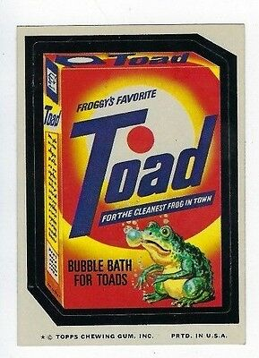 1975 Topps Wacky Packages 12th Series 12 TOAD BUBBLE BATH nm-
