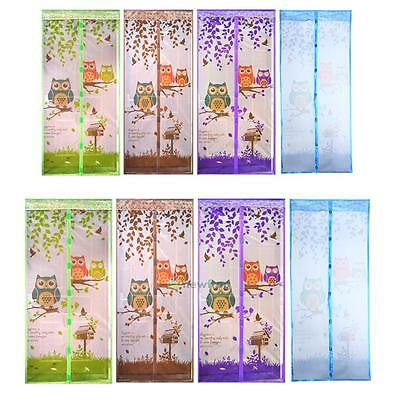 Magic Curtain Foral Door Mesh Magnetic Fastening Hand Free Fly Bug Insect Screen
