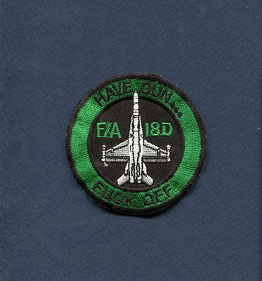 VMFA(AW)-121 GREEN KNIGHTS Have Gun F OFF MARINE CORPS Fighter Squadron Patch