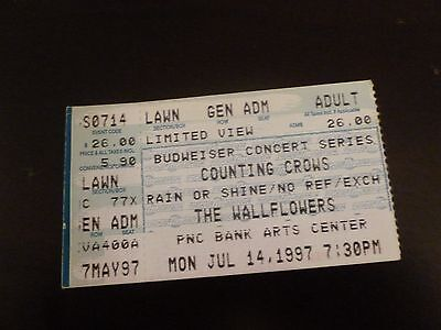 Counting Crows The Wallflowers 1997 Concert Ticket Stub Pnc Bank Arts Center Nj