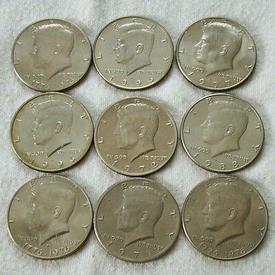 9 x Kennedy Half Dollar - Lot - Art. 7347