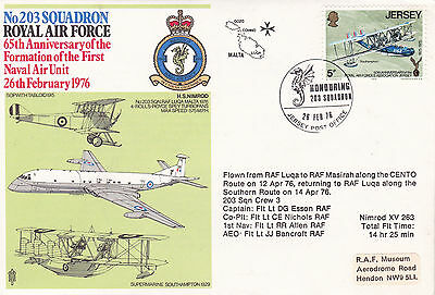 GB 1976 RAF 65th Anniv of Formation of 203 Squadron Commemorative Cover