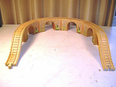Lot of 4 Wooden Thomas the Train Stone Arched Viaduct Tunnel Bridges w/ Risers