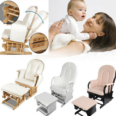 Baby Breast Feeding Sliding Glider Chair with Ottoman Nursing Support Classic AU