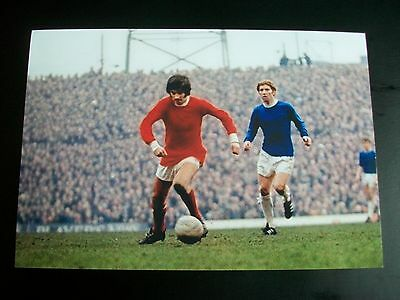 """MANCHESTER UNITED v EVERTON George Best + Alan Ball action  6""""x4""""  REPRINT"""