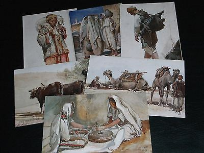 Set Of Six J. Fulleylove Signed Tuck Postcards,the Holy Land - Series Iv, 7311.