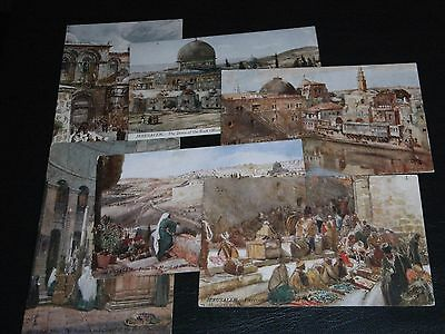 Set Of Six J. Fulleylove Signed Tuck Postcards - The Holy Land - Series I, 7308