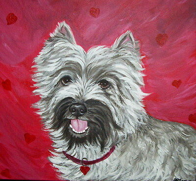Cat Dog Any pet Animal Custom Painted Canvas Portrait From Your Picture 6x6