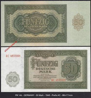 P# 14b   GERMANY   50 Mark   * 1948 > 100% CRISP & UNCIRCULATED