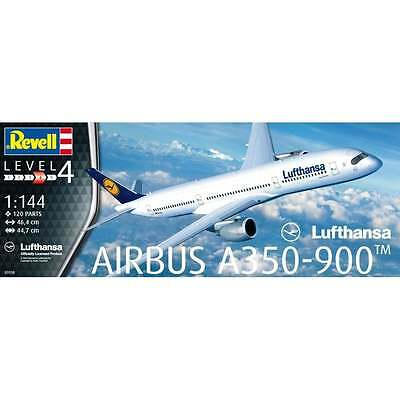 Revell 1:144 Scale Airbus A350-900 Lufthansa Aircraft Kit - 03938