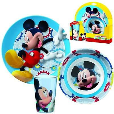 Mickey Mouse - Melamine Dinnerware Set Breakfast (3 pcs)