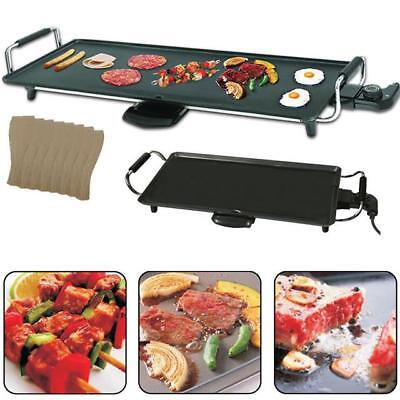 Electric Teppanyaki Table Top Grill Griddle BBQ Barbecue Camping 8 Spatulas