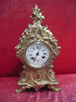 Beautiful, ANTIQUE FIREPLACE CLOCK __Heavy Bronze Watch __HIGH QUALITY __35cm__