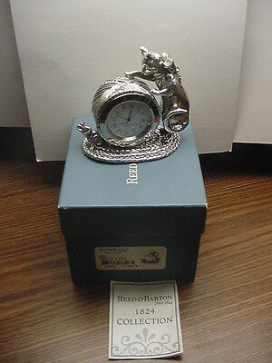 Cat & Mouse Clock Matches Napkin Ring Reed & Barton 1824 Collection in Box