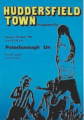 HUDDERSFIELD TOWN v PETERBOROUGH UNITED 79-80 LEAGUE MATCH WITH 4 PAGE INSERT